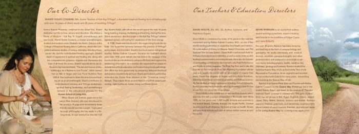 Brochure design for Tree of Life (based in AZ)